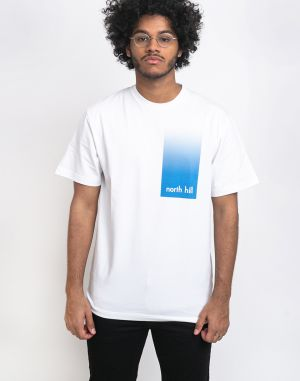 North Hill White Gradient Tee White