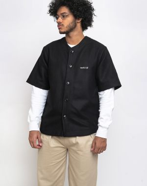North Hill Wool Baseball Jersey Black