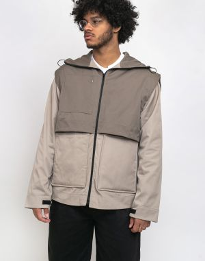 North Hill Two-Tone Waterproof Jacket Cream