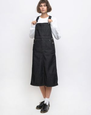 Dr. Denim Pannie Pinafore Dres Rinsed Blue
