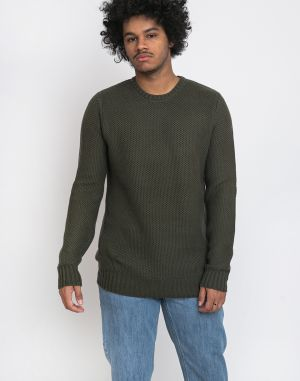 RVLT 6514 Heavy Knitted Sweater Army