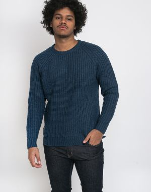 RVLT 6518 Heavy Knitted Sweater Blue