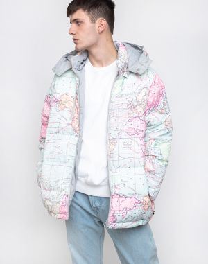 Dedicated Puffer Jacket Dundret Map Multi Color