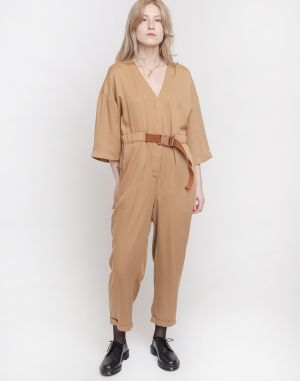 Native Youth The Eve Tencel Jumpsuit Camel