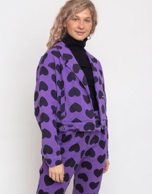 Lazy Oaf Heart Burn 80'S Jacket Purple
