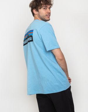 Patagonia P-6 Logo Pocket Responsibili-Tee Break Up Blue
