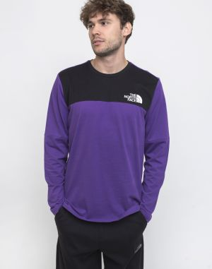 The North Face Himalayan Longsleeve Tee Hero Purple/TNF Black
