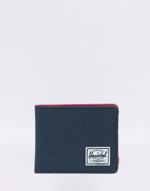 Herschel Supply Roy + Coin RFID Navy/ Red
