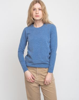 Colorful Standard Women Light Merino Wool Crew Stone Blue