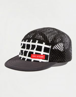Topo Designs Sport Hat Black Grid