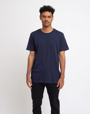 By Garment Makers The Organic Tee Navy Blazer