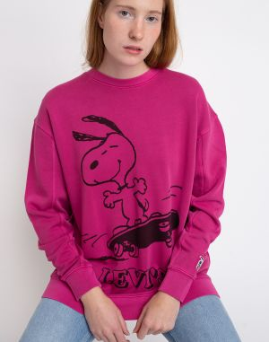 Levi's® Unbasic Crew Sweatshirt Snoopy Skater Red