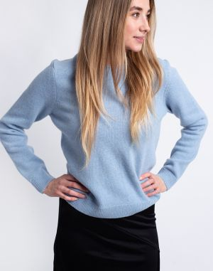 Colorful Standard Women Classic Merino Wool Crew Polar Blue