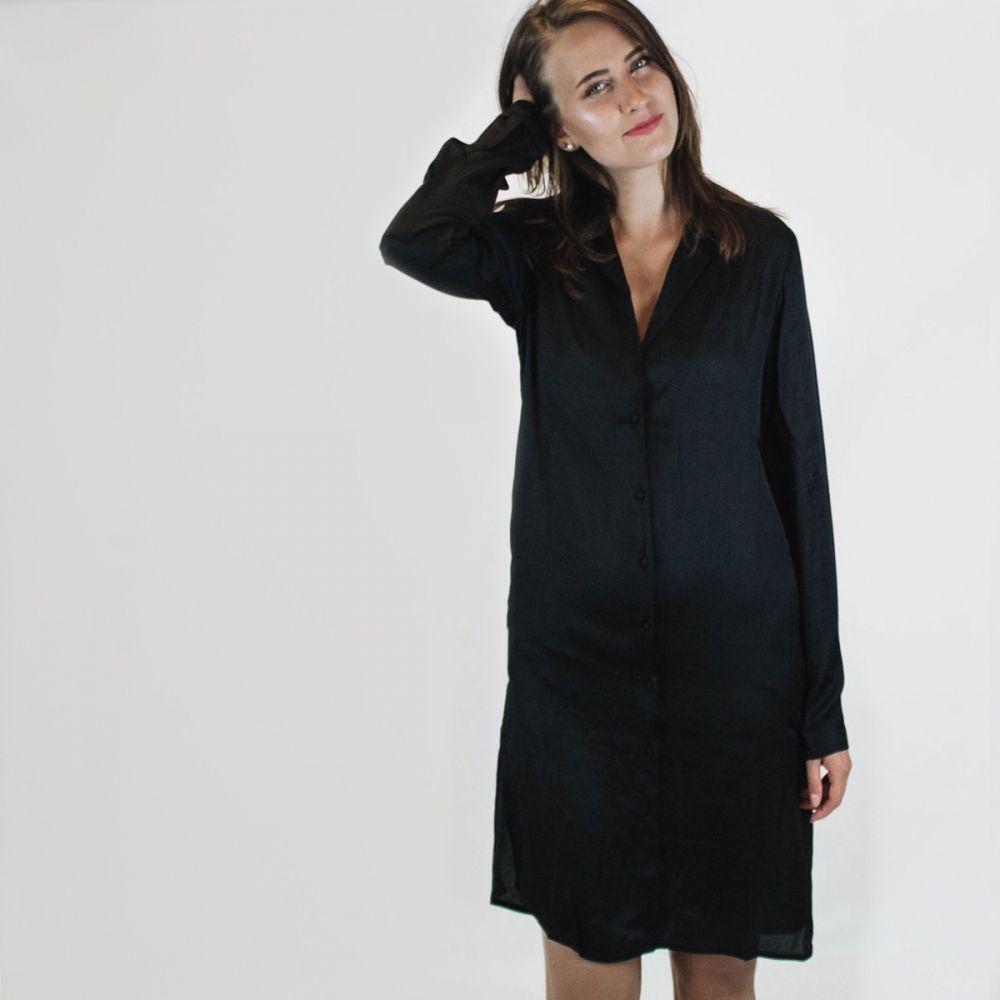 34f6466fedea Čierne košeľové šaty – Vibalint značky VILA - Lovely.sk