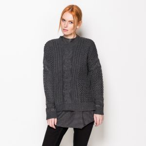 Sveter – CABLE CONTRAST OPEN KNIT