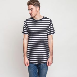 Tričko Cope stripe white–black