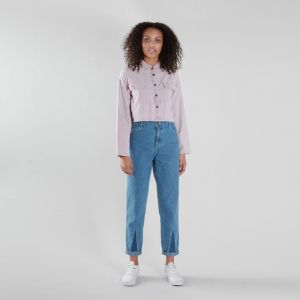 55a357e7fb71 Krémovo-ružová bodkovaná voľná košeľa VAVI značky VAVI - Lovely.sk