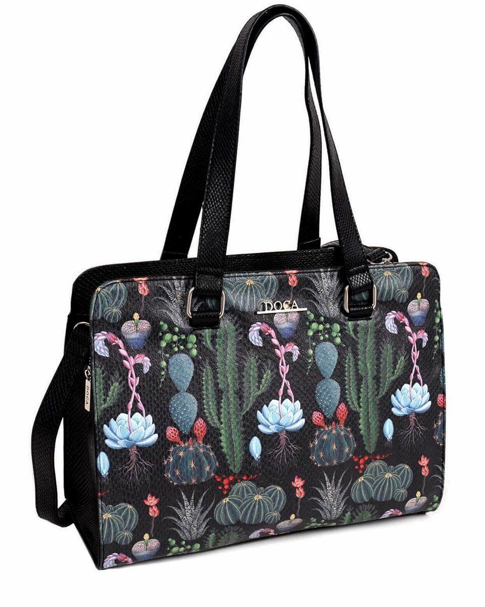 3c563be29d Čierna kabelka s potlačou – Cactus značky D . . A - Lovely.sk