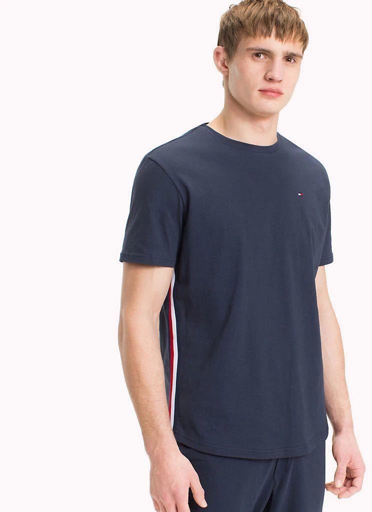 0c79a2eee508 Tmavomodré tričko Modern Stripe CZ Tee značky Tommy Hilfiger - Lovely.sk