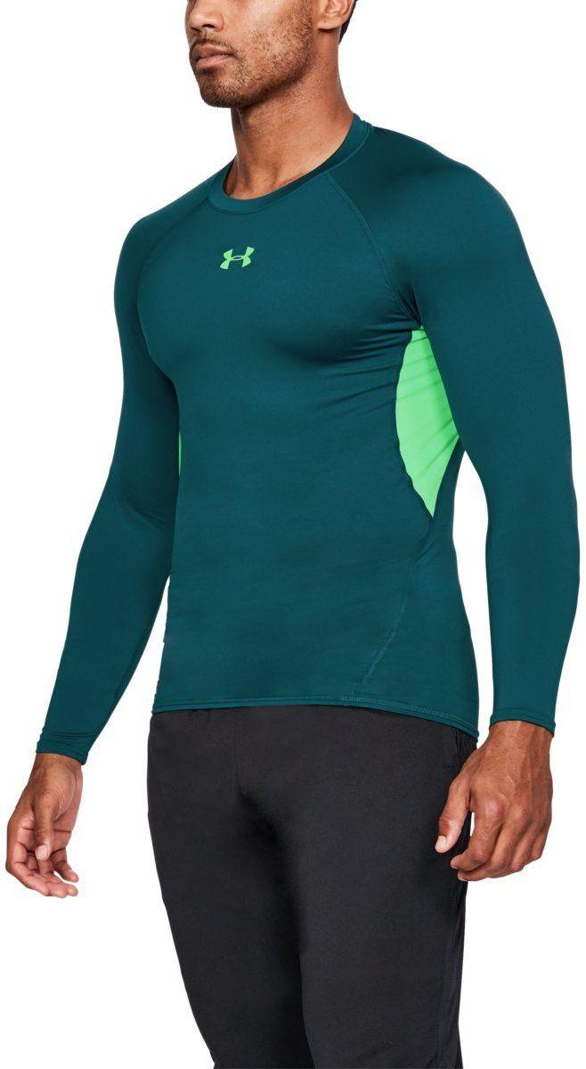 Zelené športové tričko s dlhým rukávom – HeatGear značky UNDER ... 24cb4ccf089