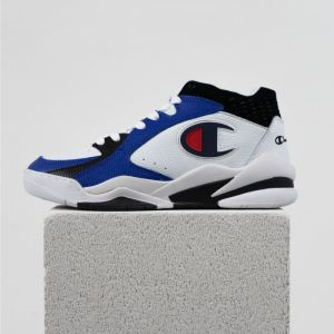 Zone 93 Mid-Cut Trainers: white-blue