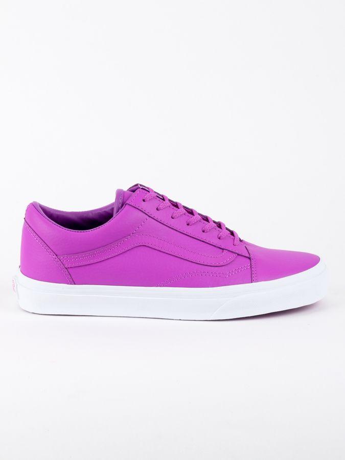 Topánky Vans UA OLD SKOOL (NEON LEATHE Růžová značky Vans - Lovely.sk 6736504dfc7