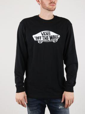a748d106baf Tričko Vans MN Otw Long Sleeve Black White Čierna