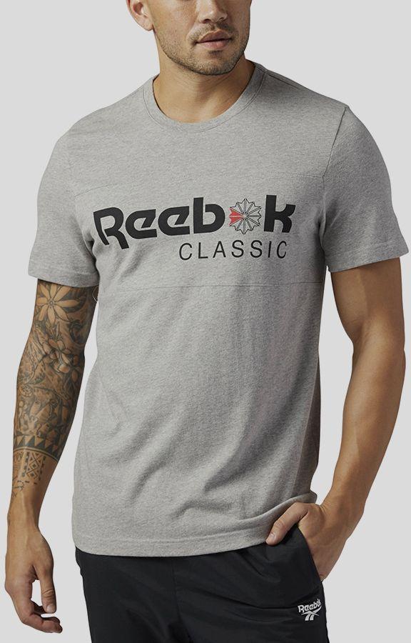 180854f58d1 Tričko Reebok Classic F FRANCHISE ICONIC TEE Šedá značky Reebok ...
