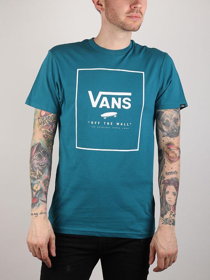 Tričko Vans MN Print Box Corsair White Modrá značky Vans - Lovely.sk ae4af74952e