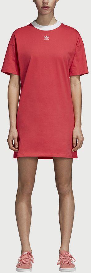 7bcc2c556fec Šaty adidas Originals Trefoil Dress Červená značky adidas Originals -  Lovely.sk