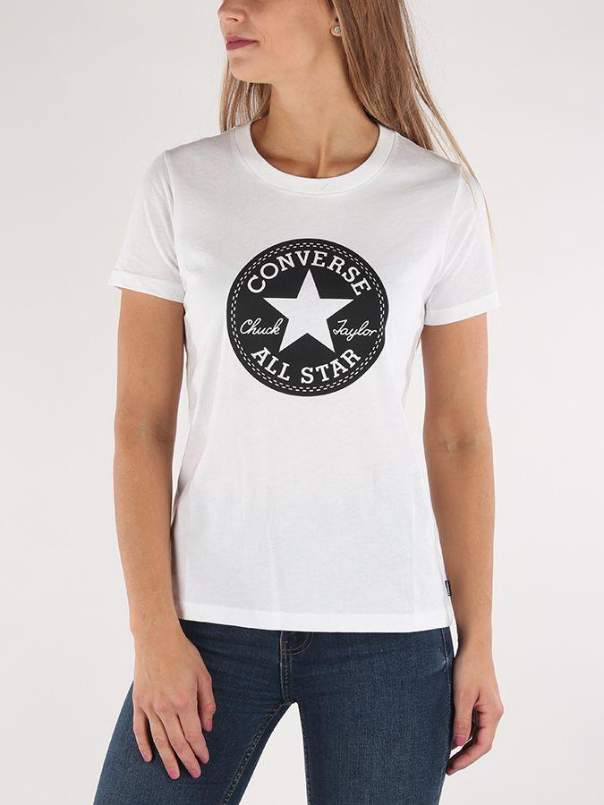 fb1a27ecb94 Tričko Converse W Chuck Patch Crew Tee Biela značky Converse - Lovely.sk