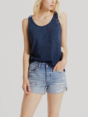 Tielko LEVI'S THE PERFECT TANK DEEP MIDNIGHT INDIGO IN Modrá