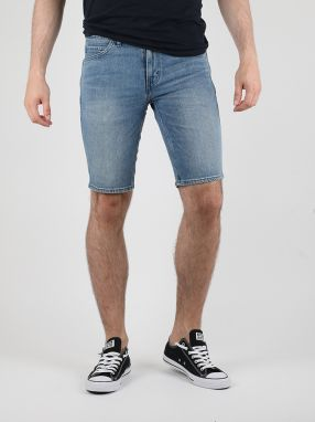 Kraťasy LEVI'S L8 SLIM STRAIGHT SHORT TRUE BLUE MID AU Modrá