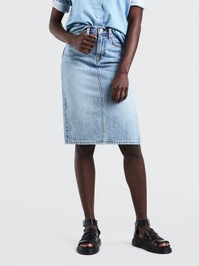 Sukne LEVI'S Side Slit Skirt Blue Waves Modrá