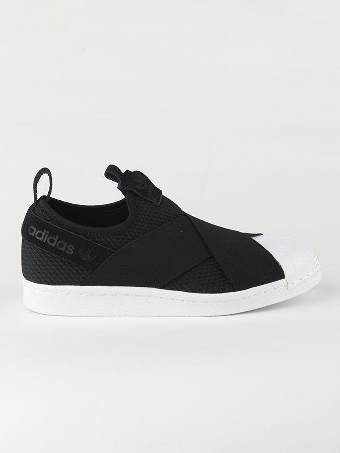 Topánky adidas Originals Superstar Slip On W Čierna značky adidas ... 8cf5e25b7f6