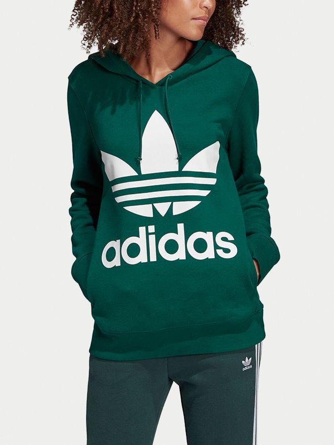 4f21609ea Mikina adidas Originals Trefoil Hoodie Zelená značky adidas Originals -  Lovely.sk