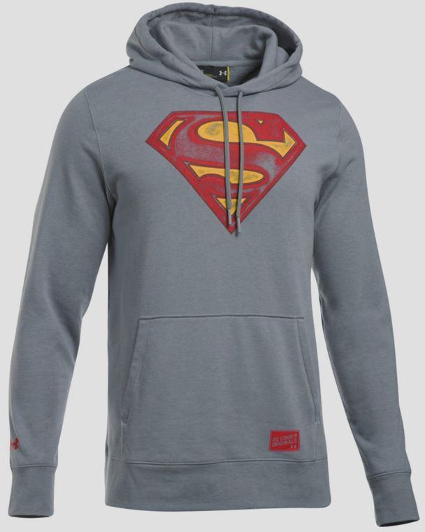 Mikina Under Armour Coldgear Retro Superman Triblend Hoody Šedá ... 26afae4f233