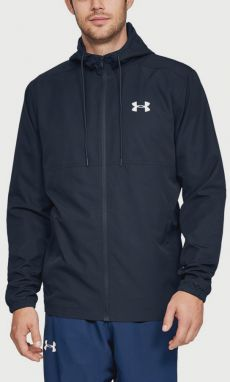 Bunda Under Armour Sportstyle Woven Fz Hoodie Modrá