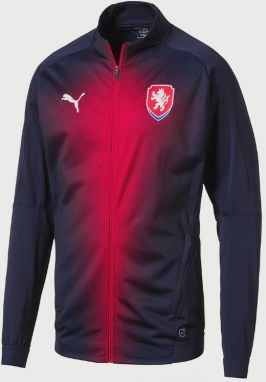 Bunda Puma CZECH REPUBLIC StadiumJacket Modrá