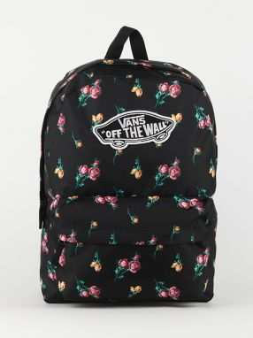 Ruksak Vans Wm Realm Backpack Satin Floral Čierna