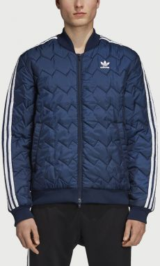 Bunda adidas Originals SSS Quilted Modrá