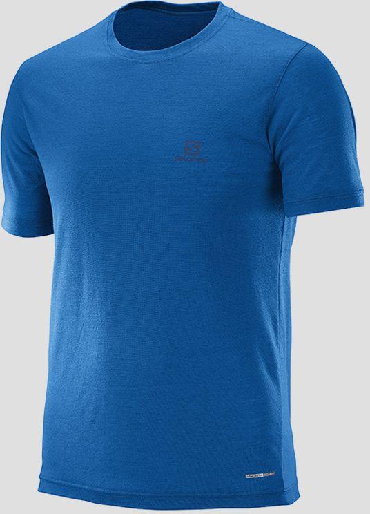 0dc6ca63576 Tričko Salomon EXPLORE SS TEE M Prince Blue Modrá značky Salomon ...