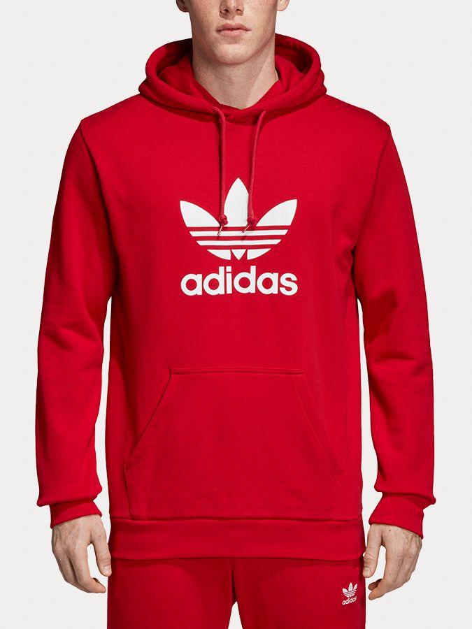 20d22cced87 Mikina adidas Originals Trefoil Hoodie Červená značky adidas ...