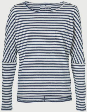 Tričko O´Neill Lw Essentials Striped Top Modrá