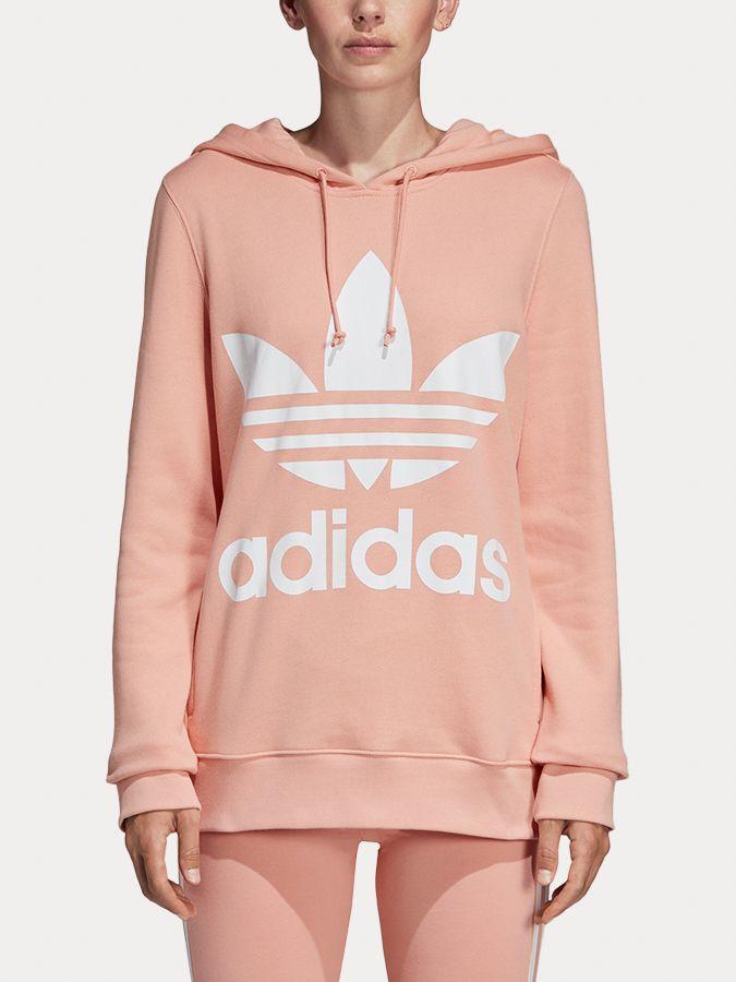 fb2649047 Mikina adidas Originals Trefoil Hoodie Růžová značky adidas Originals -  Lovely.sk