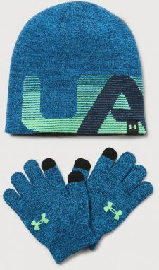 Čapica a rukavice Under Armour Boy's Beanie/Glove Combo Modrá