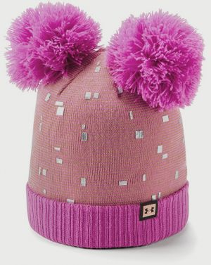 Čapica Under Armour Girls Double Pom Beanie Růžová