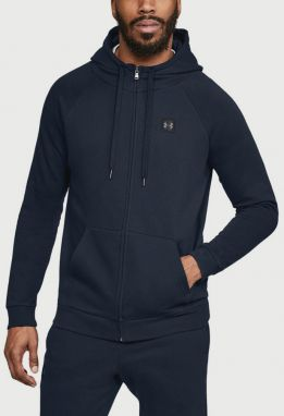 Mikina Under Armour Rival Fleece Fz Hoodie Modrá