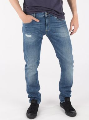 Džínsy Trussardi 370 Extra Slim Seasonal - Denim Modrá