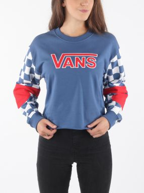 Mikina Vans Wm Bmx Crew Fleece True Navy Modrá